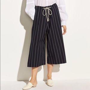 Vince skinny stripe culottes w/slit size Small